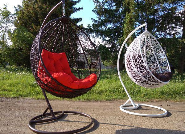 Підвісне крісло Garden. Підвісне крісло кокон. Садові качелі. Підвісне крісло з ротангу. Меблі з ротангу. Меблі для саду та тераси. Більше фото на сайті www.gipsovalipnyna.com