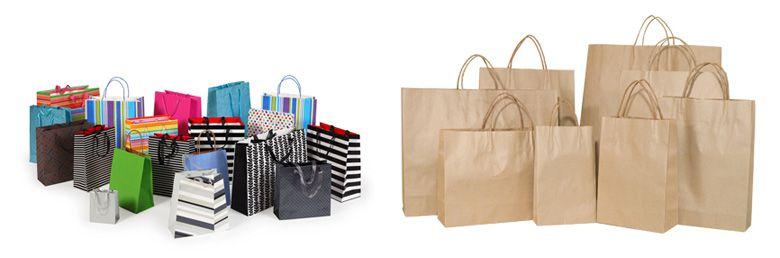 Пакеты подарочные и бумажные